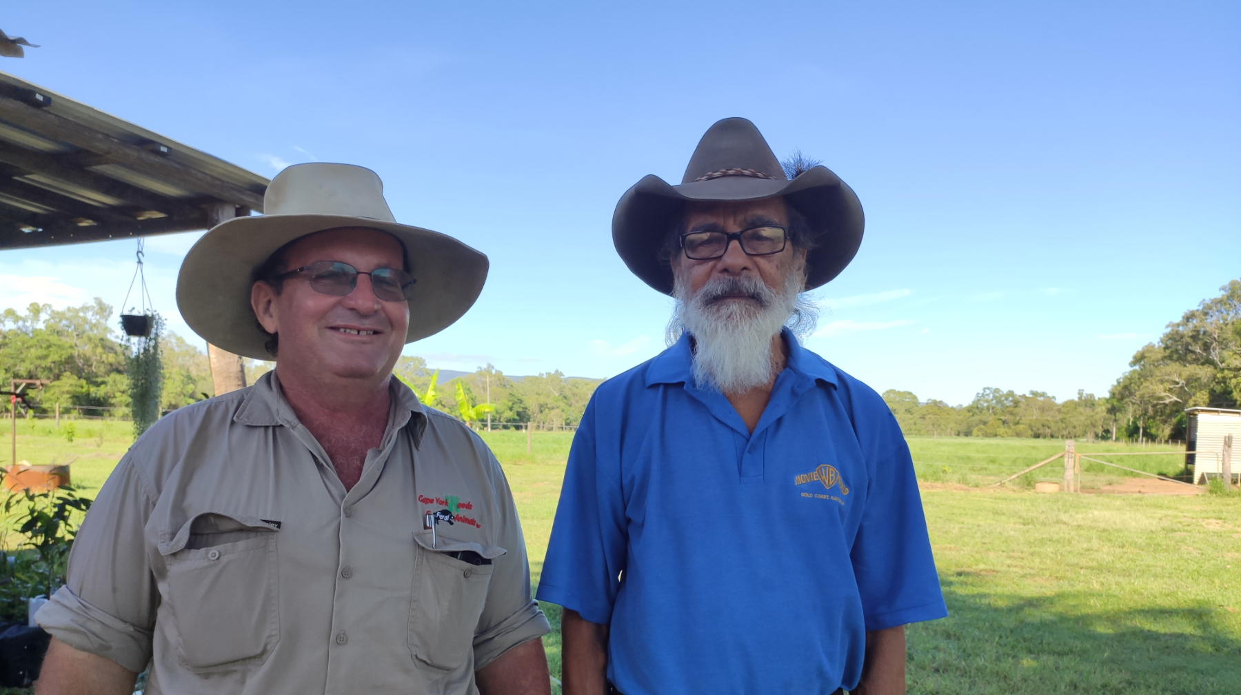 L to R | Trevor Meldrum, Cape York Weeds & Feral Animals Inc., and Director Eric Rosendale, Cape York NRM