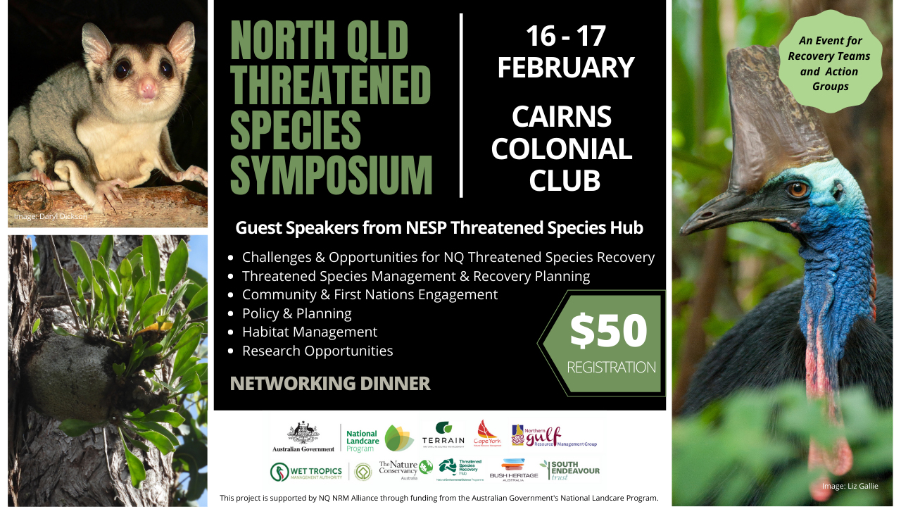 2021 North Qld Threatened Species Symposium banner
