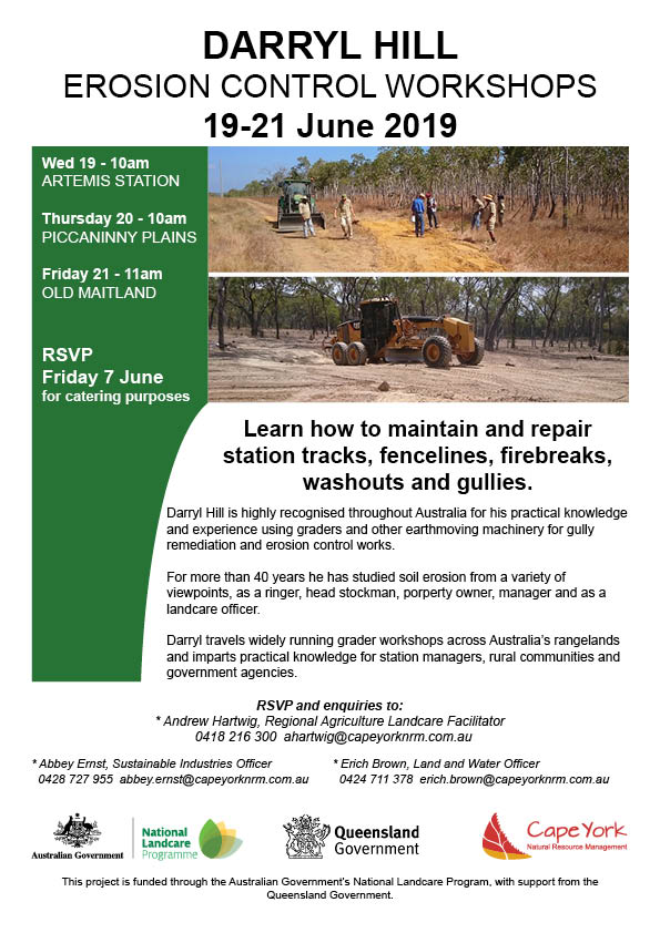 Darryl Hill Erosion Control Workshops 19-21 June 2019