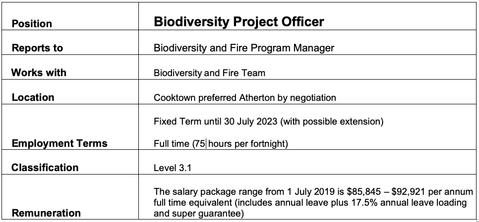 Biodiversity Project Officer_Brief